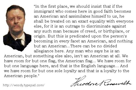teddy roosevelt quotes immigration