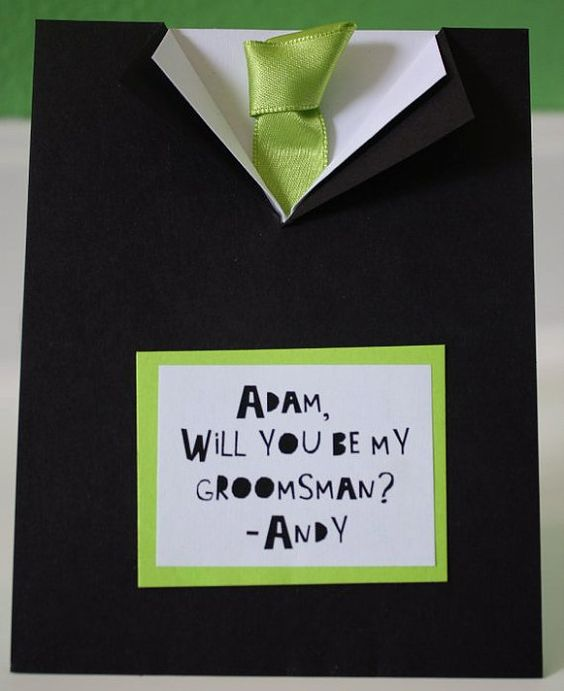 WIll you be my Groomsman by byMegMade on Etsy, $3.25