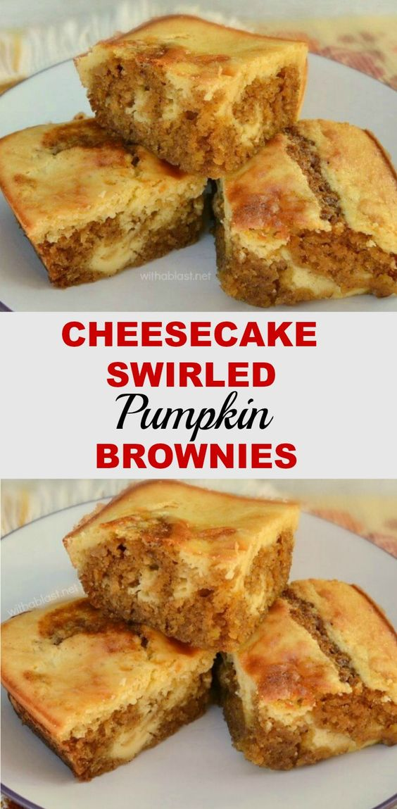 Pumpkin brownies, Cheesecake and Brownies on Pinterest