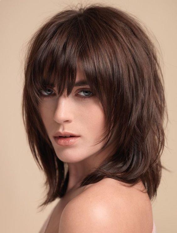 Short To Medium Layered Haircuts With Bangs 12