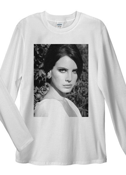 Lana Del Rey Watching Long Sleeve T-Shirt. Unisex T-Shirt: Made of 100% Pre-Shrunk Jersey Knit Cotton. Weight of the fabric 141g/m²