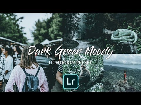 Preset Lightroom Dark Green