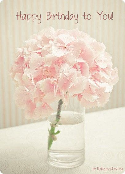 Birthday Message For Girl Pink Hydrangea Flower Arrangements Pink Flowers
