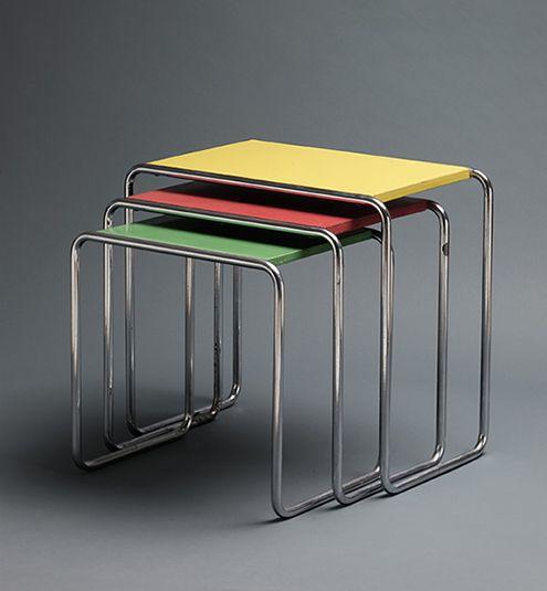 marcel breuer b9 table thonet bauhaus