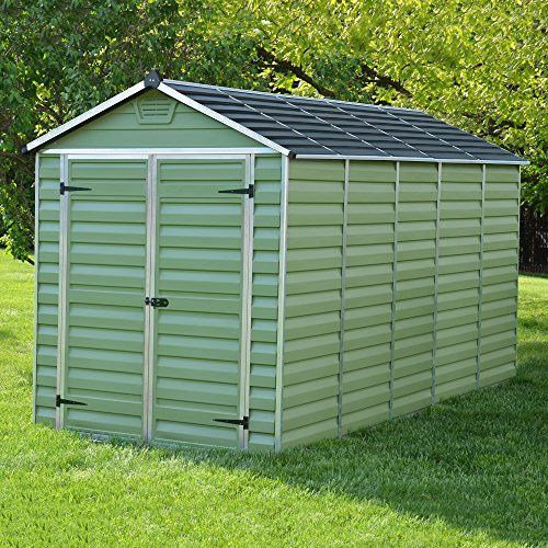 6 X 12 Green Skylight Plastic Apex Storage Shed By Waltons Plastic Sheds Shed Homes Shed