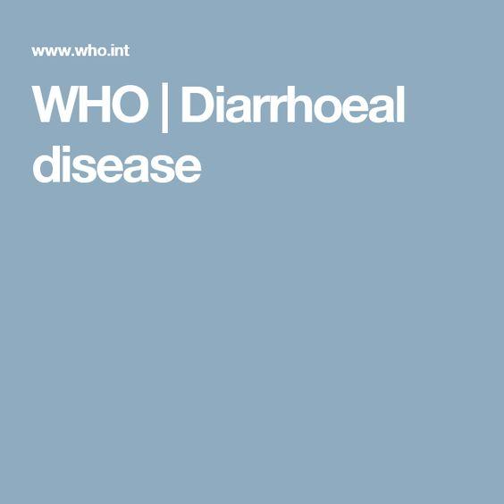 WHO | Diarrhoeal disease