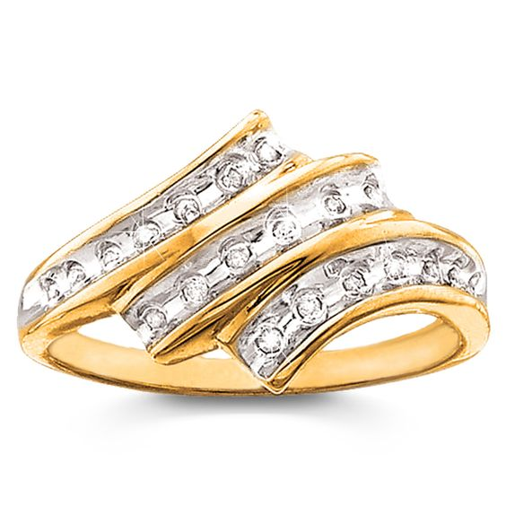 Genuine Diamond-Accent Treasure Ring