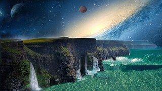 Raum, Natur, Landschaft, Photoshop