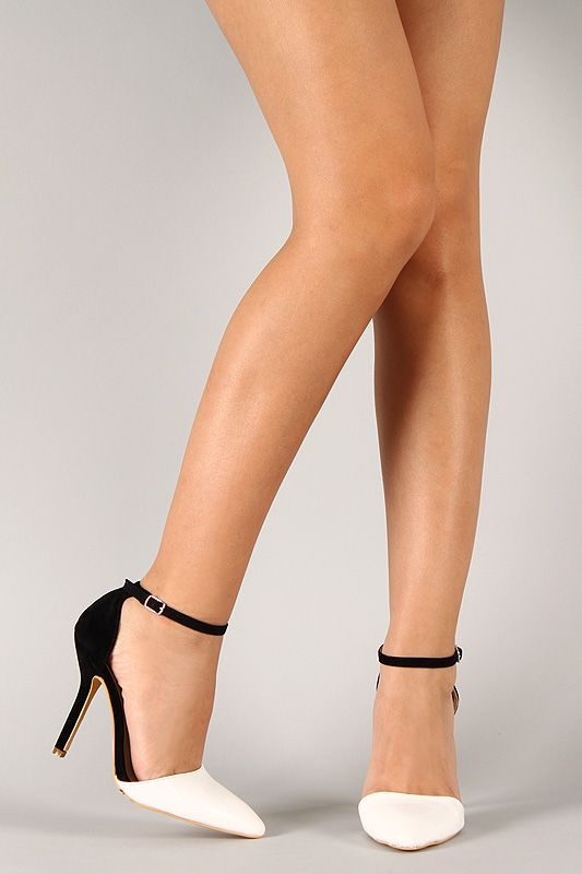 Pointed Toe Heels With Ankle Strap | Tsaa Heel