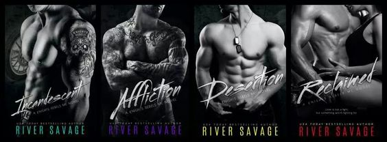 Knight's Rebels MC series by River Savage