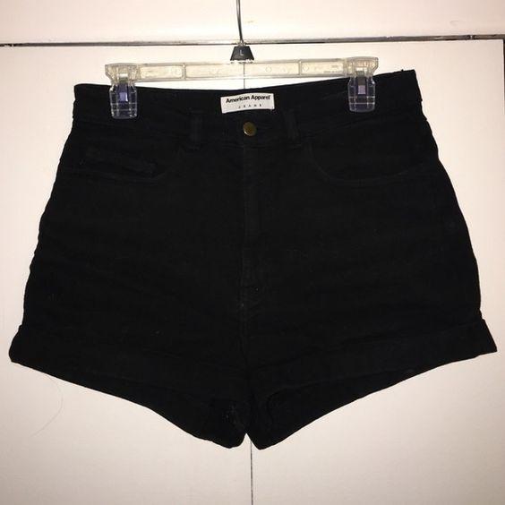 American Apparel Black High-waisted shorts American Apparel high waisted shorts. Black. Lightly worn! Perfect for summer! American Apparel Shorts Jean Shorts