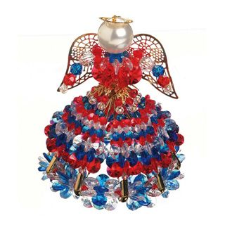 Safety Pin Angel Bead Kits and Crafts - Red White and Blue