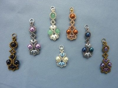 FREE beading pattern for Lotus Lace Earrings