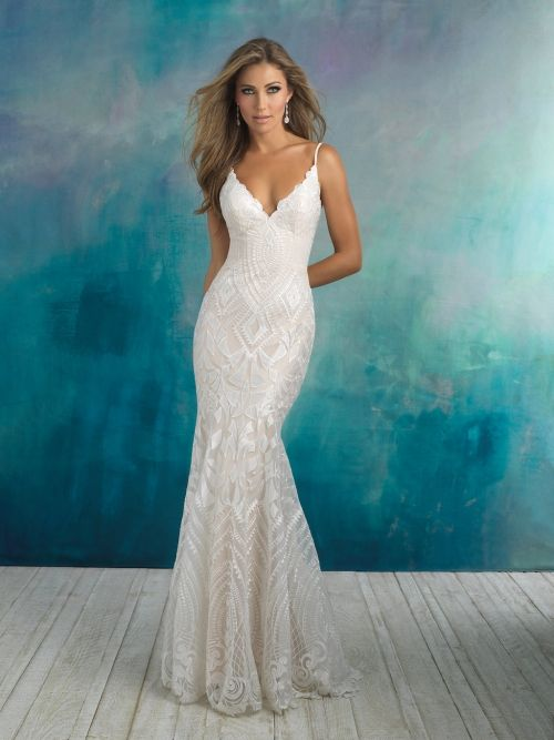 Fitted Wedding Dress From Fantasy Bridal Fitted Geometric