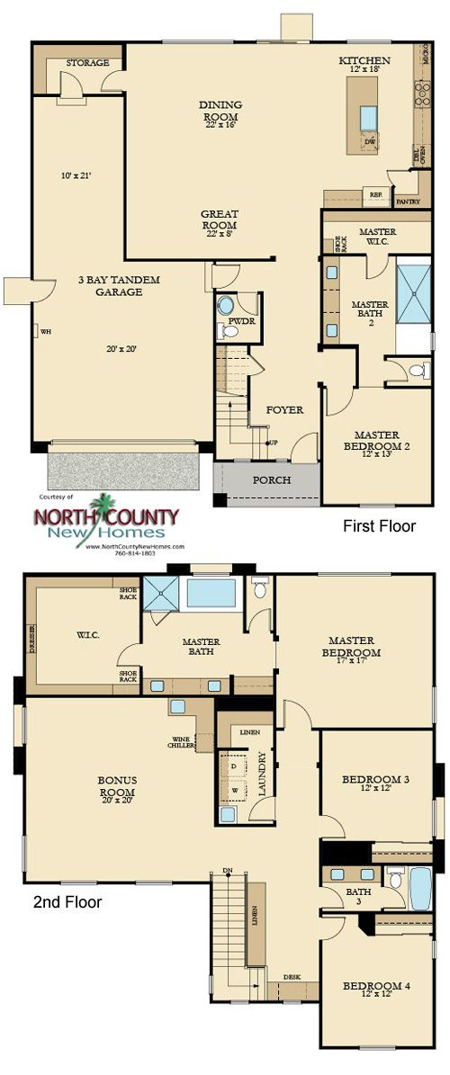 Artesian Estates New Homes In Del Sur North County New Homes Mansion Floor Plan Family House Plans Multigenerational House Plans