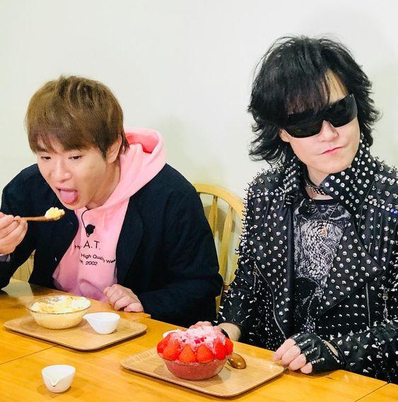 カキ氷を食べるtoshi