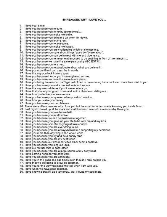 Gründe lieb ich 10 warum dich 10 Gründe,
