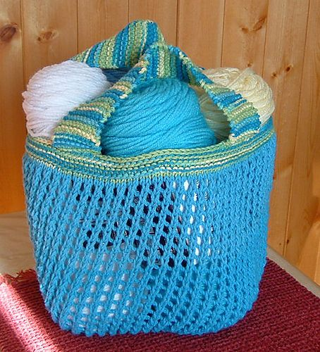 Knitted Shopping Bag Pattern : Ravelry: Lets go shopping - Market bag pattern by Linda Skinlo - free ra...