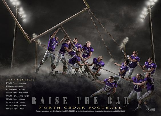 An epic football team poster! The background is available as a ...