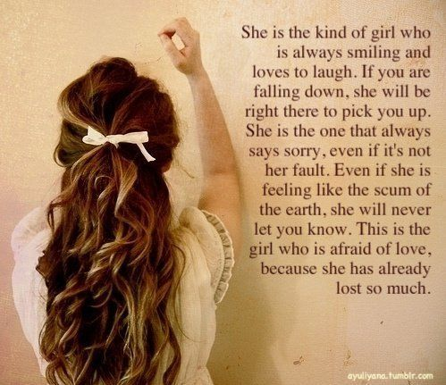 Even if she is feeling like the scum of the earth...