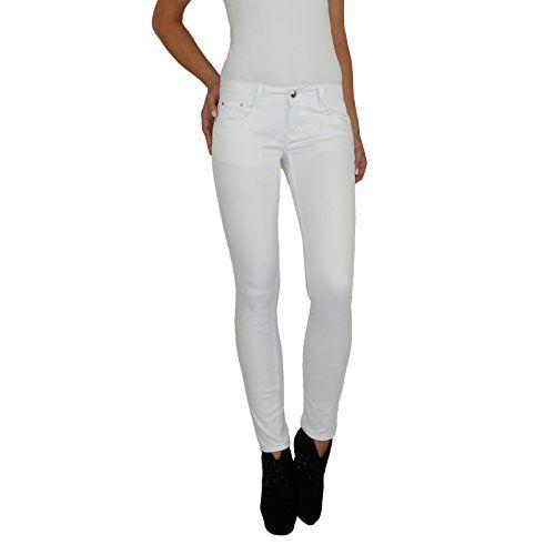 Dresscode Berlin DB Damen Stretch Röhrenjeans in weiß (S