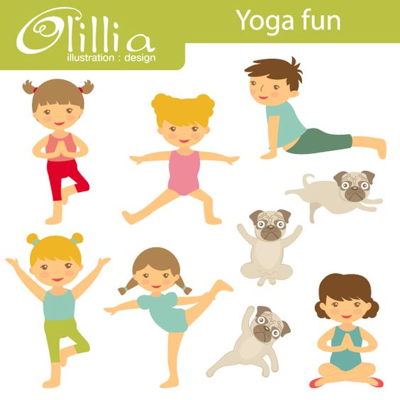 Yoga fun - Kids Yoga Graphics are great for newsletters ...