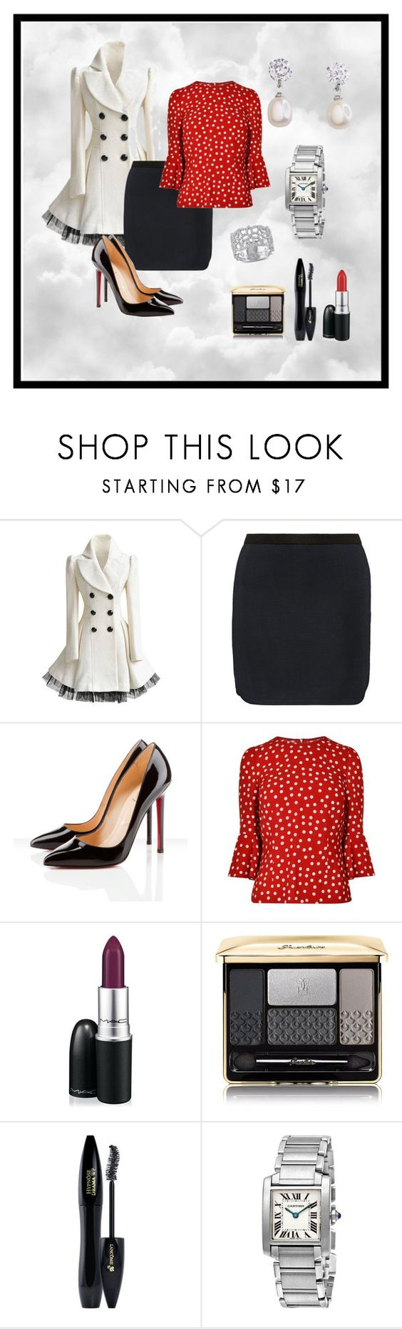 """retro"" by xan86 ❤ liked on Polyvore featuring Isabel Marant, Christian Louboutin, Dolce&Gabbana, MAC Cosmetics, Guerlain, Lancôme, Amour, women's clothing, women's fashion and women"