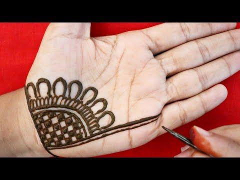 Easy Beautiful Arabic Mehndi Design Simple Front Hand Mehndi Design Mehndi Design Youtube