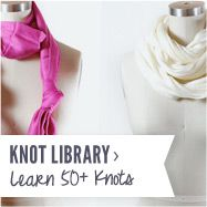 lots of ways to tie scarves