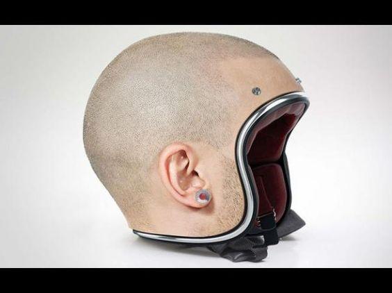 Estos cascos para motociclistas son geniales, pero también intimidantes: están poniendo los pelos de punta en Pinterest.