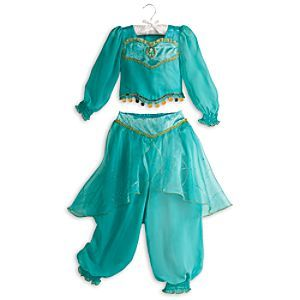 Disney Jasmine Costume for Girls   Disney StoreJasmine Costume for Girls - Like a magic carpet ride, her imagination will be whisked away as she dreams of being a Sultan's daughter in far-off lands. This detailed two-piece Jasmine costume features gold detailing, organza, crepe, and dazzling Jasmine cameo.