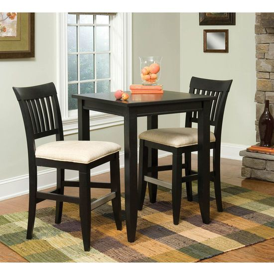 Payless Furniture Store Dining Room Tables: Tall Square Table With Bars On The Chairs/stools
