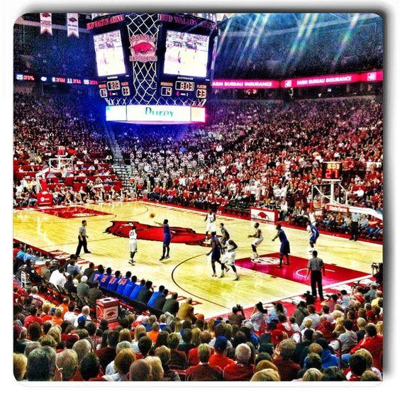 Bud Walton Arena. University of Arkansas.