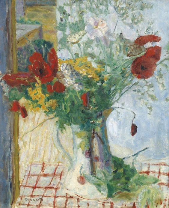 Pierre Bonnard (French, 1867-1947), Fleurs de champs [Wild flowers], c.1916. Oil on canvas, 65.4 x 54.7 cm.