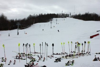 Mt Pisgah Ski Center offers something for everyone!  There are 3.5 kilometers of snow shoe trails, .5 kilomters of beginner trails, 3.5 kilomters of cross country trails for the beginner to intermediate skier, 30 acres of glade skiing for the intermediate to advanced skier.