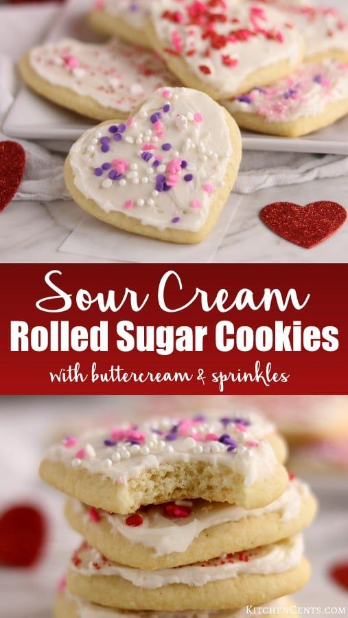 The Best Rolled Sugar Cookies Kitchen Cents Rolled Sugar Cookies Sour Cream Sugar Cookies Roll Out Sugar Cookies