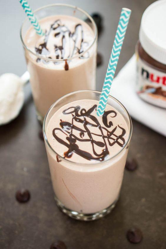 Nutella milkshake, Nutella and Milkshakes on Pinterest
