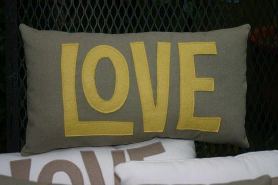 A Little Love Pillow. via Etsy.