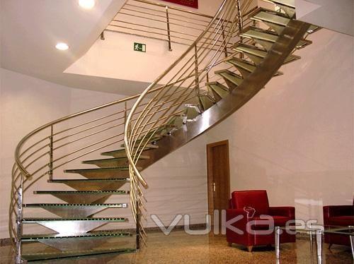 curvados escaleras interior escaleras unas escaleras diseo interior roig curvados cliente biblioteca casas
