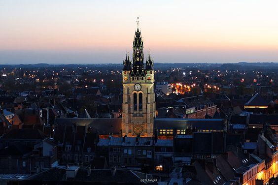 Beffroi de Douai, France. http://www.lonelyplanet.fr/article/les-tresors-insoupconnes-du-bassin-minier #Beffroi de #Douai #France #monument #voyage #BassinMinier