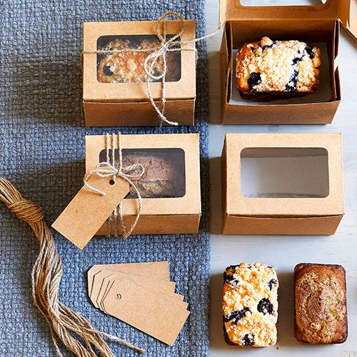 Turn Your Famous Bread Recipe Into Six Sweet Gifts With The Mini Loaf Box Set These Boxes Are The P Dessert Packaging Baking Packaging Dessert Boxes Packaging