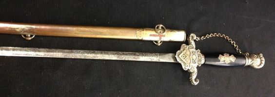 Antique 1800's Masonic Knight Templar Sword with Masonic Square and Compass | eBay
