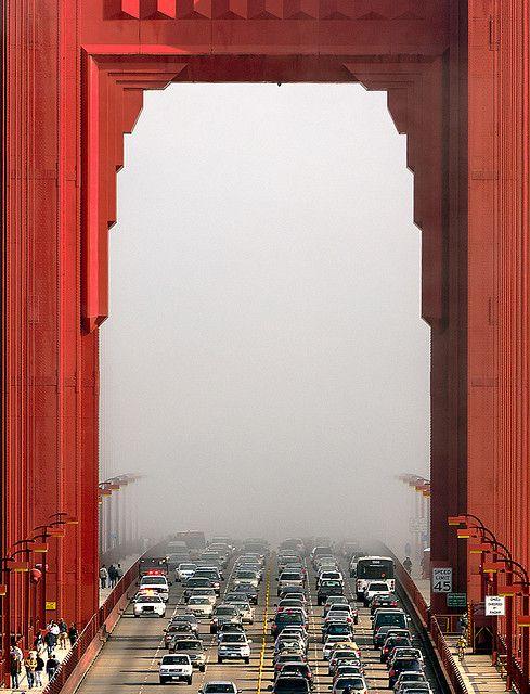 Golden Gate Bridge - San Francisco Fog