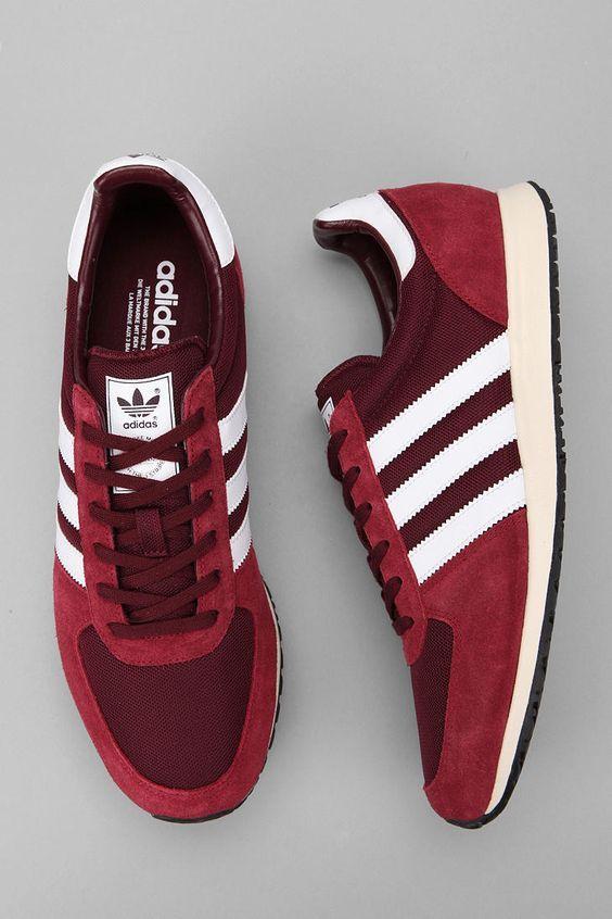 Super modèle Adidas Race Sneakers rouge et blanc #mode #baskets #sneakers #look…