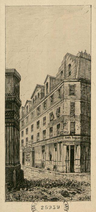 Rue Transnonnain - 12  théâtre Doyen, dessin fait le 15 avril 1834