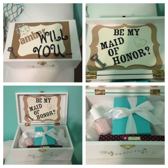 Will You Be My Maid Of Honor? Jewelry Box With Tiffany