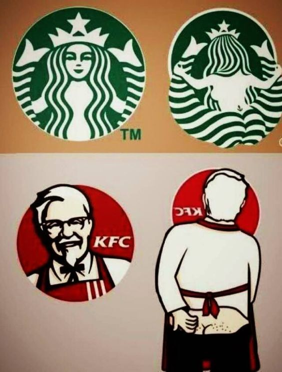 changing the perspetive of the logo | funny