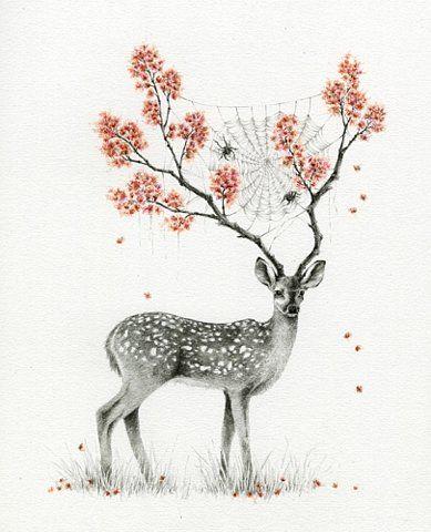 ciervo flores