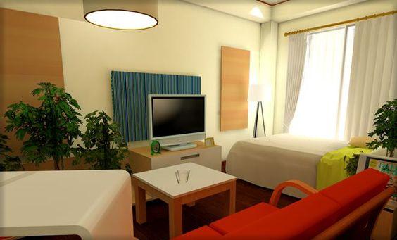 縦長ワンルームを観葉植物インテリアでナチュラルモダンな部屋に レイアウト実例
