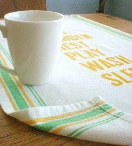 vintage inspired tea towel
